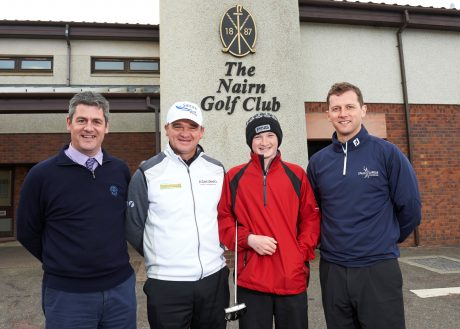 Left to right Fraser Cromarty, Paul Lawrie,Sandy Scott and Michael MacDonald