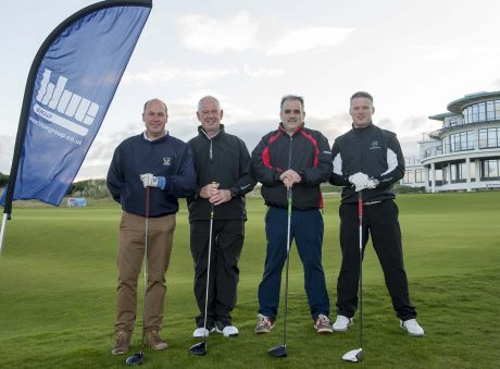 Left to right – Jonathan Lomas (pro) , David McCelland, Martin Morris and James McCluskey.