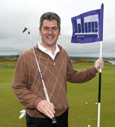 Fraser Cromarty launches Highland Golf Links Pro-Am with Blue Group. PIC Trevor Martin.